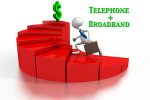 Save money with bundles of phone and broadband service...